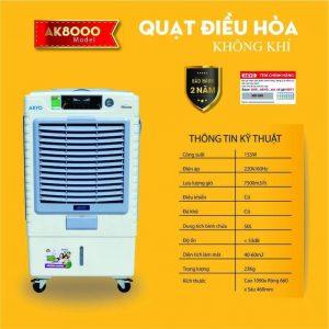 Quạt điều hòa không khí Akyo AK-8000 nhập khẩu Thái Lan
